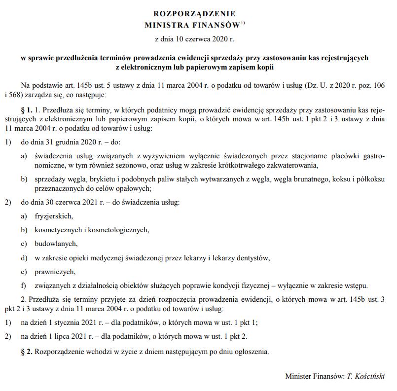 Rozporządzenie Ministra Finansów z 18 czerwca 2020 r. Poz. 1059